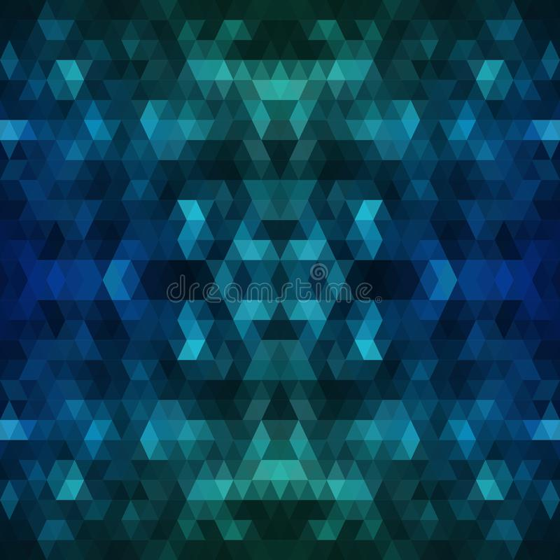 Fondo poligonal azul marino Ejemplo abstracto colorido con pendiente El modelo texturizado se puede utilizar para stock de ilustración