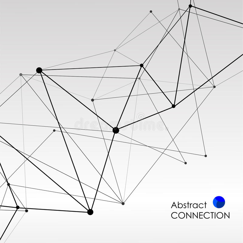 Fondo poligonal con la conexión molecular abstracta libre illustration