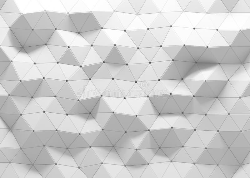 fondo poligonal 3D stock de ilustración