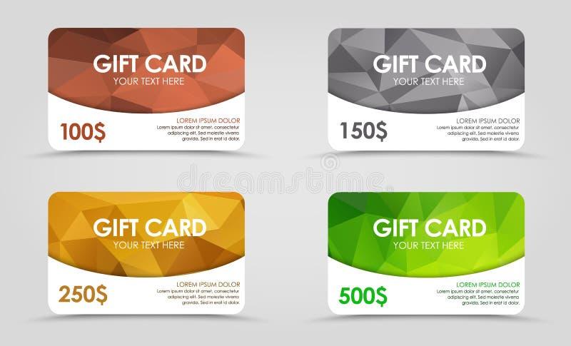 Fondo poligonal de los cartes cadeaux libre illustration