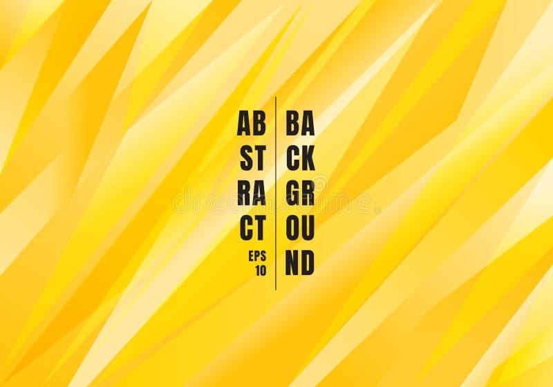 Fondo poligonal del color amarillo brillante del extracto Triángulos creativos de la plantilla para el uso en el diseño, cubierta stock de ilustración