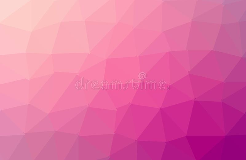 Fondo poligonal del mosaico del rosa del extracto Ilustraci?n del vector Fondo polivin?lico bajo multicolor de la pendiente Crist ilustración del vector