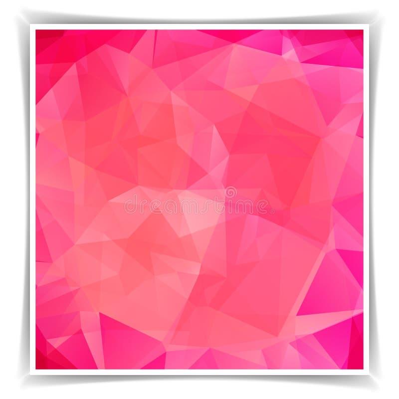 Fondo poligonal del triángulo rosado abstracto stock de ilustración