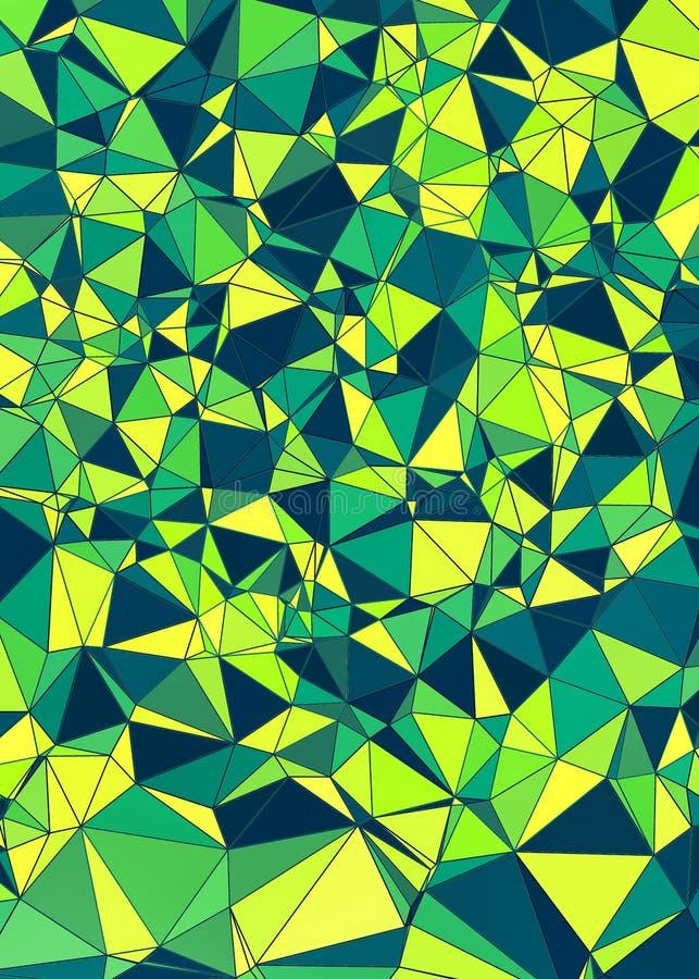 Fondo poligonal del verdor abstracto ilustración del vector