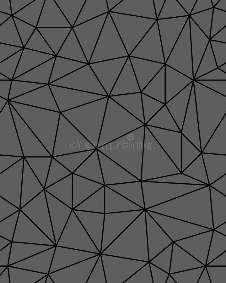 Fondo poligonal incons?til del modelo ilustración del vector