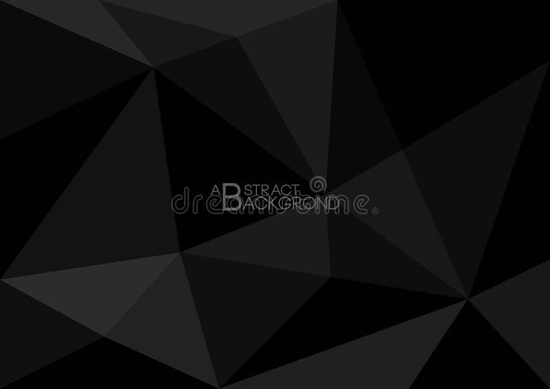 Fondo poligonal negro, ejemplo del vector, textura abstracta stock de ilustración