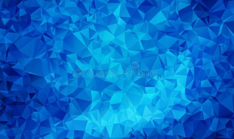 Fondo poligonal texturizado extracto AZUL MARINO del vector Diseño borroso del triángulo ilustración del vector