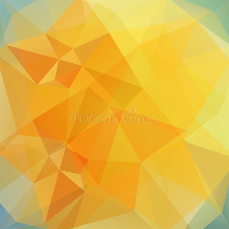 Fondo poligonale astratto di vettore Vettore geometrico giallo illustrazione vettoriale