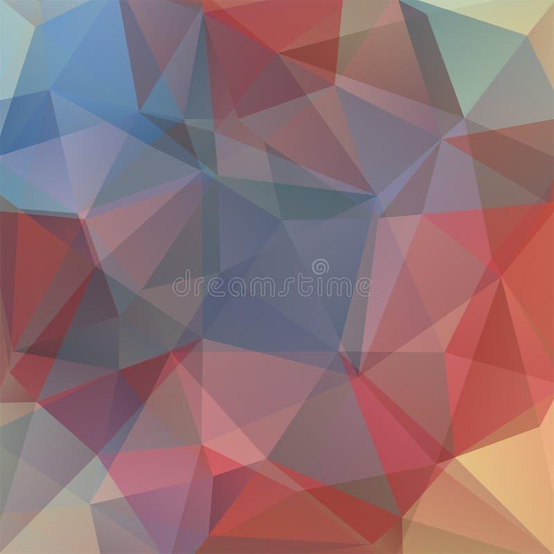 Fondo poligonale astratto di vettore Vettore geometrico variopinto illustrazione di stock