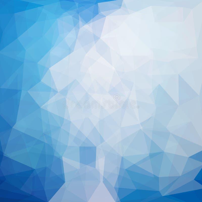 Fondo poligonale astratto nei colori blu illustrazione vettoriale
