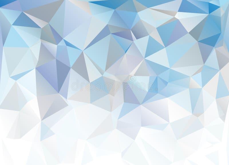 Fondo poligonale bianco blu del mosaico Fondo blu astratto immagine stock