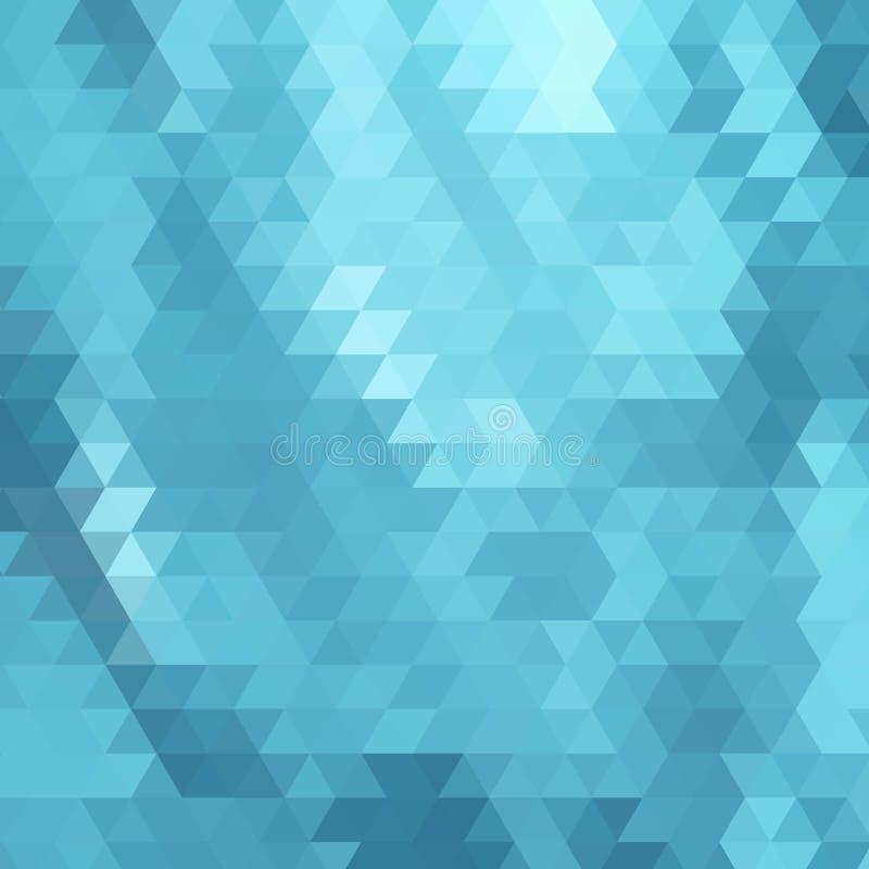 Fondo poligonale bianco blu del mosaico, illustrazione di vettore, modelli creativi di progettazione di affari ENV 10 illustrazione vettoriale