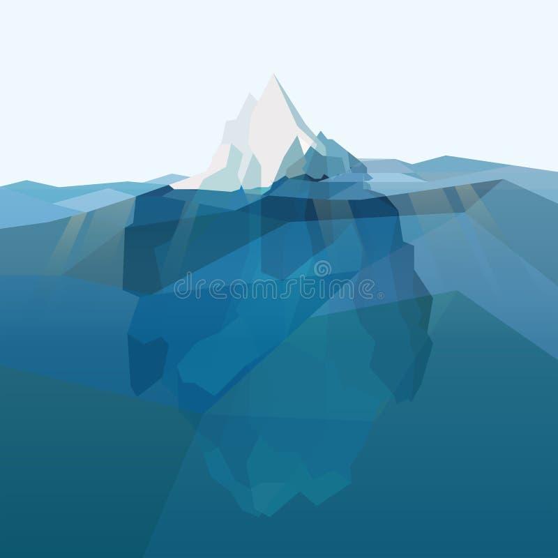 Fondo poligonale dell'iceberg royalty illustrazione gratis