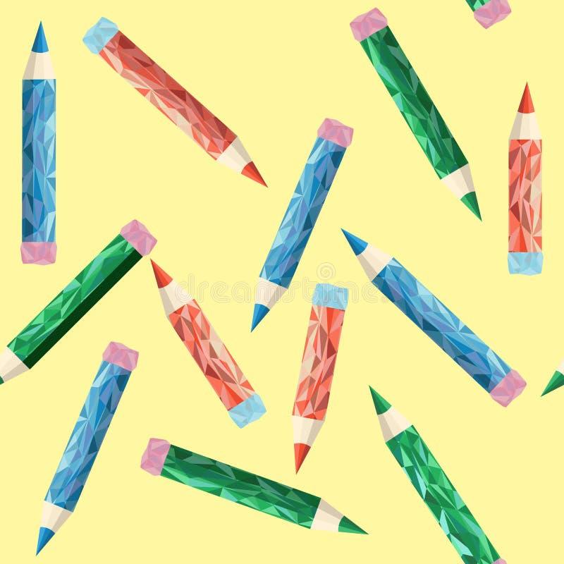 Fondo poligonale della matita royalty illustrazione gratis