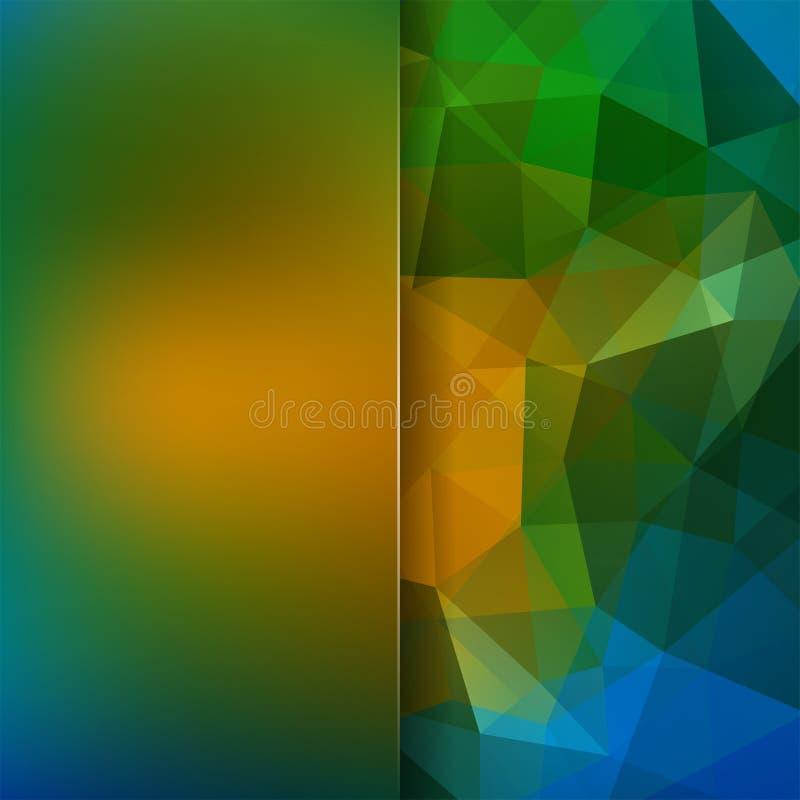 Fondo poligonale di vettore Priorità bassa della sfuocatura verde, beige, blu illustrazione vettoriale