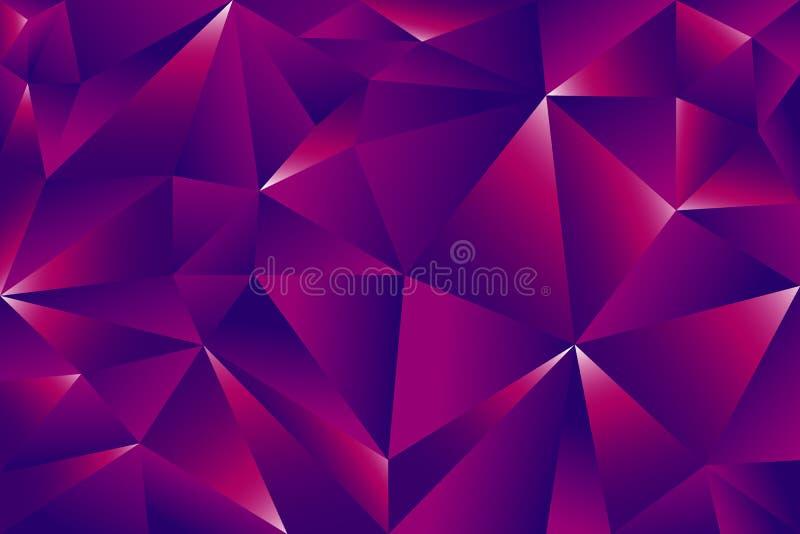 Fondo poligonale disegnato a mano di vettore con gli insiemi del triangolo immagine stock libera da diritti