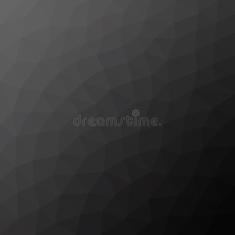 Fondo poligonale grigio scuro royalty illustrazione gratis