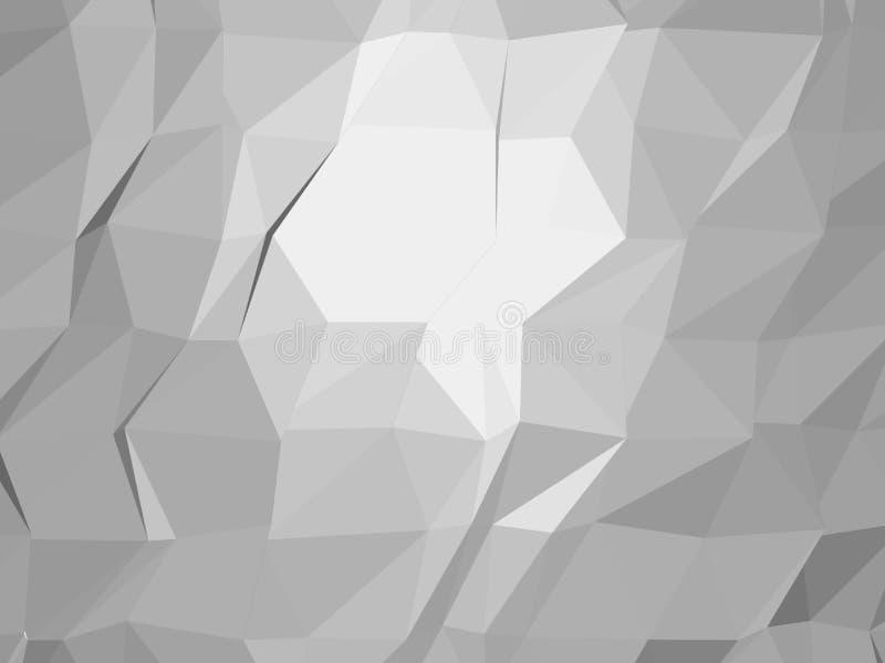 Fondo poligonale monocromatico del mosaico Poli illustrazione bassa di vettore di stile Modello di disegno di affari Struttura d' royalty illustrazione gratis