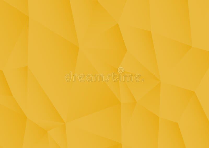 Fondo poligonale strutturato astratto Di giallo fondo lowpoly illustrazione vettoriale