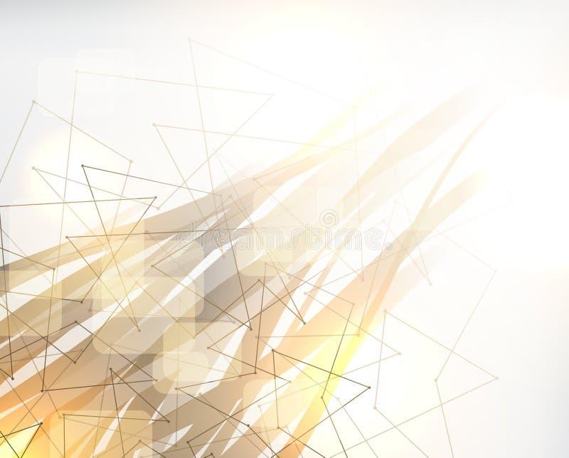 Fondo polivinílico abstracto, diseño poligonal libre illustration