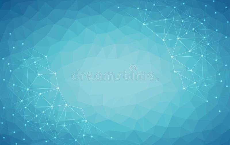 Fondo polivinílico bajo azul claro, ejemplo abstracto del vector del diseño del polígono, modelo triangular geométrico ilustración del vector