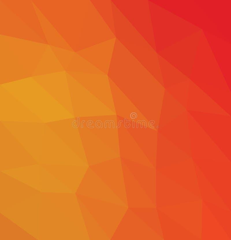 Fondo polivinílico bajo caleidoscópico del mosaico del estilo del triángulo foto de archivo