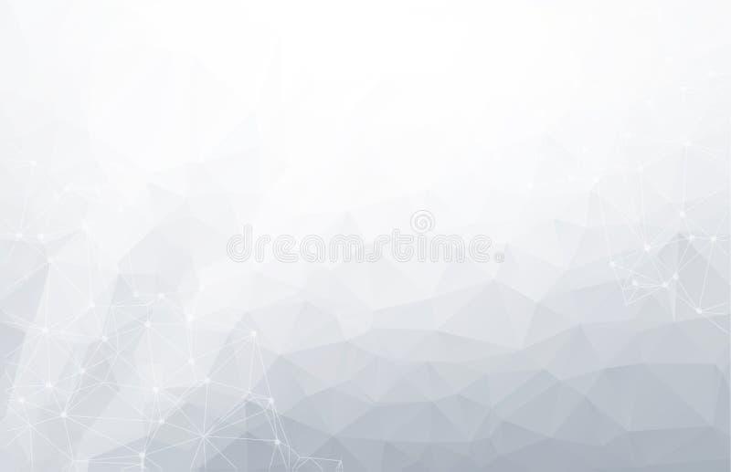 fondo polivinílico bajo de la conexión y de los puntos Diseño de la tecnología del vector ilustración del vector