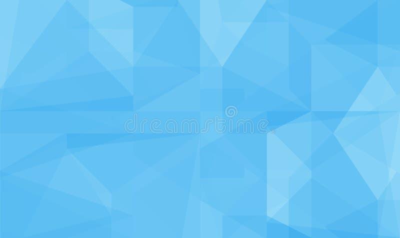 Fondo polivinílico bajo del extracto azul imagenes de archivo