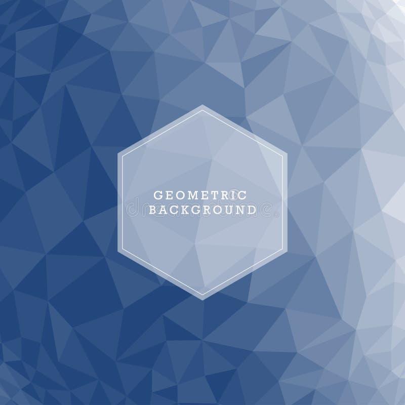 Fondo polivinílico bajo triangular desgreñado geométrico abstracto azul del gráfico del ejemplo del vector del estilo ilustración del vector