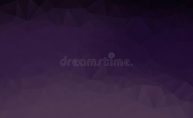 Fondo polivinílico bajo triangular desgreñado geométrico púrpura oscuro multicolor abstracto del gráfico del ejemplo de la pendie stock de ilustración