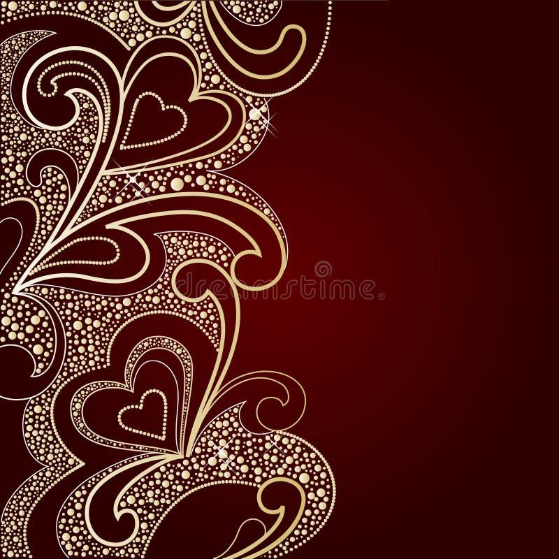 Fondo por el día de tarjeta del día de San Valentín libre illustration