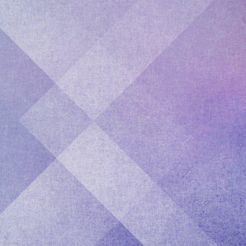 Fondo porpora astratto con gli strati geometrici dei rectangels e delle forme del triangolo immagini stock libere da diritti