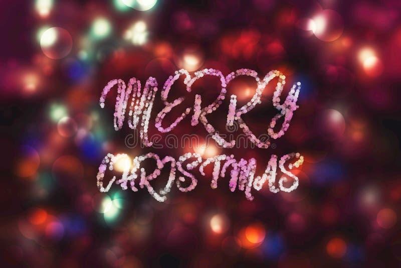 Fondo porpora astratto di Natale del bokeh Segno piano semplice moderno Simbolo d'avanguardia della decorazione per il sito Web fotografie stock libere da diritti