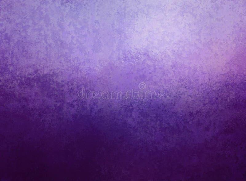 Fondo porpora Colore porpora elegante di pendenza scura e leggera e vecchia struttura d'annata nella progettazione astratta del f royalty illustrazione gratis