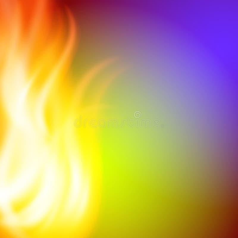 Fondo porpora del fuoco di verde dell'estratto per la vostra progettazione royalty illustrazione gratis