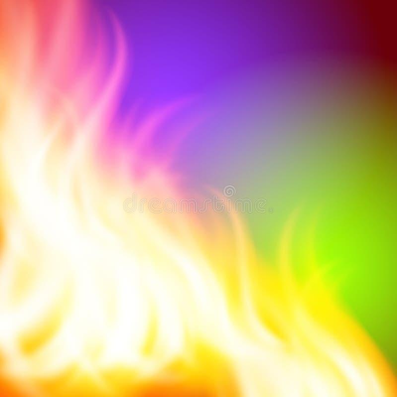 Fondo porpora del fuoco di verde dell'estratto per la vostra progettazione illustrazione di stock