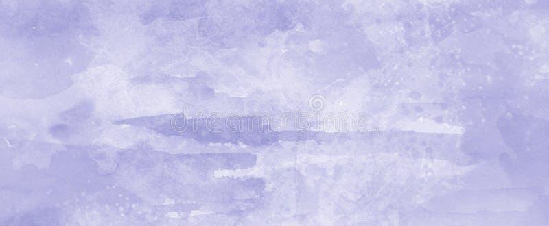 Fondo porpora della pittura con il lavaggio molle dell'acquerello e struttura di carta granulare nella progettazione pastello del fotografie stock