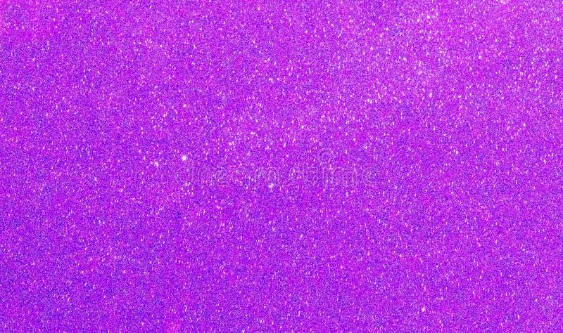 Fondo porpora di scintillio del nuovo anno di Natale Tessuto astratto di struttura di festa Elemento, flash fotografia stock libera da diritti