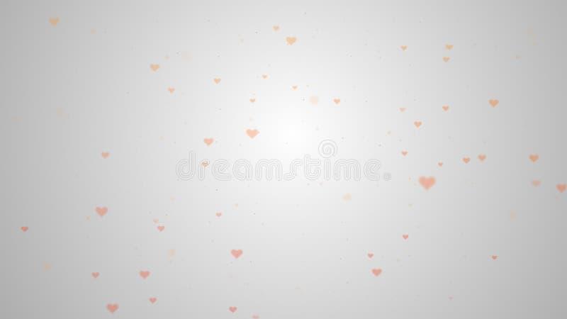 Fondo precioso con los corazones rosados para el d?a de tarjeta del d?a de San Valent?n Backgrop blanco ligero foto de archivo libre de regalías