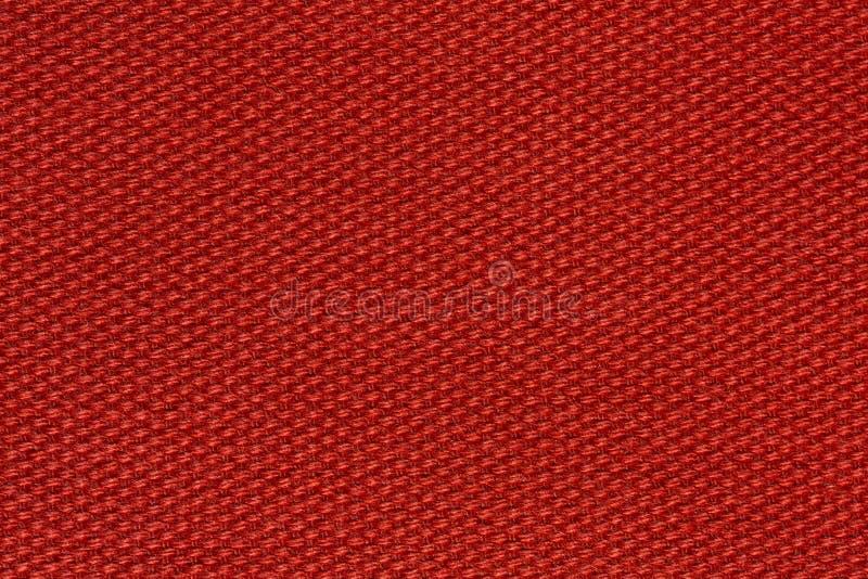 Fondo preciso del tessuto nel colore rosso fantastico fotografia stock
