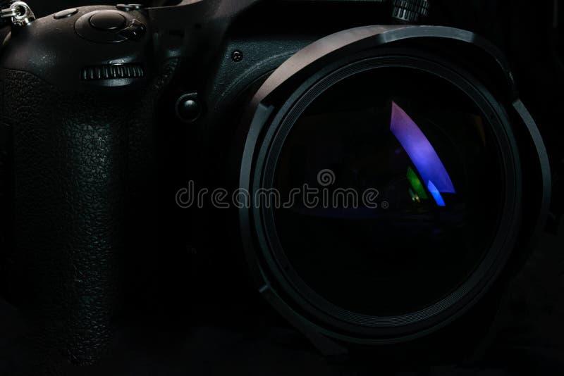 Fondo profesional de la cámara de DSLR fotos de archivo libres de regalías