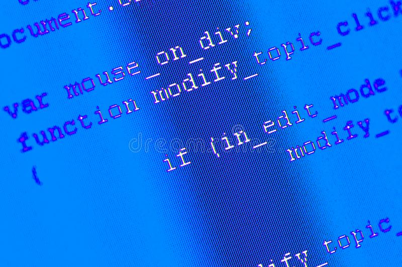 Fondo programado del código imagen de archivo libre de regalías