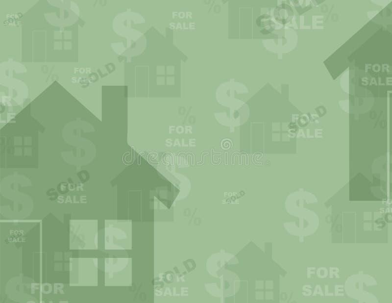 Fondo - propiedades inmobiliarias ilustración del vector