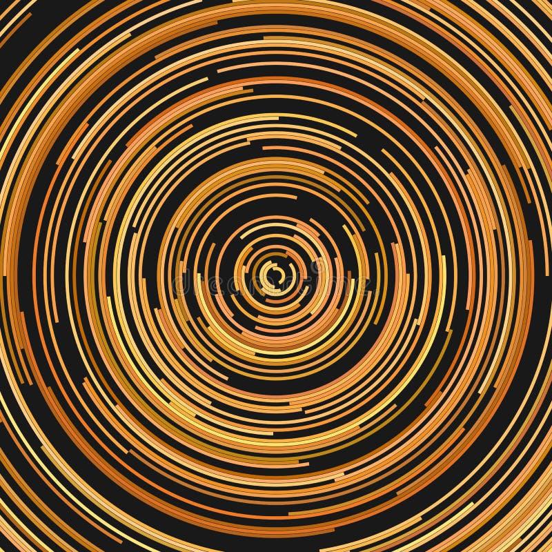 Fondo psichedelico di vettore astratto dai mezzi anelli illustrazione di stock