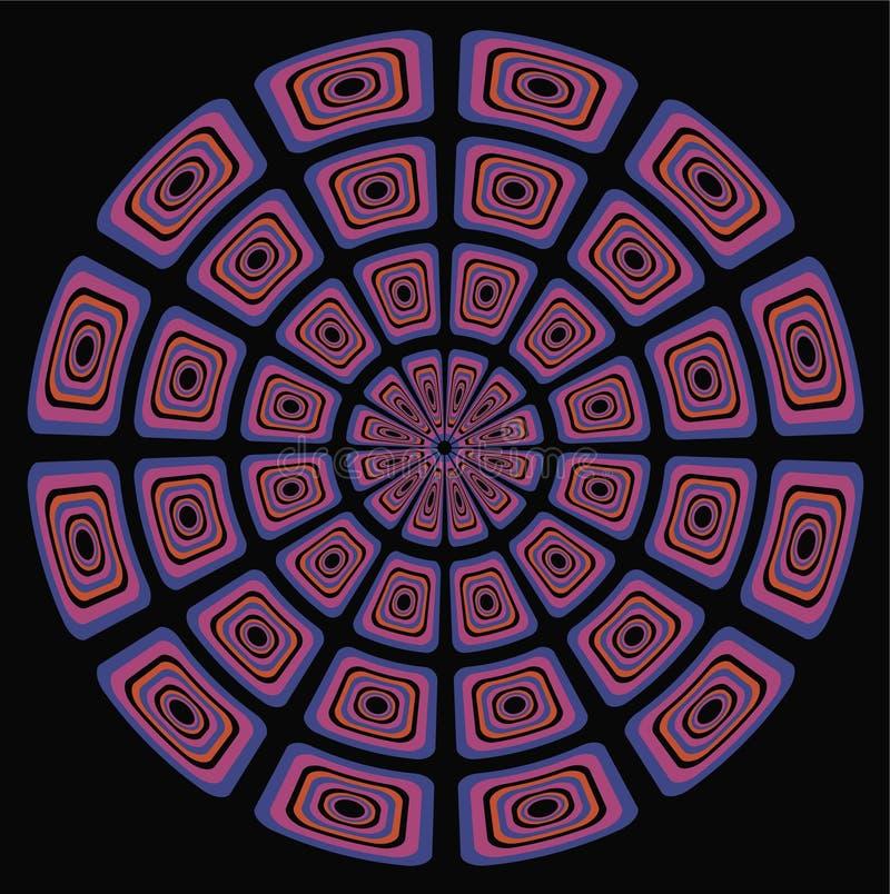 Fondo psicodélico circular libre illustration