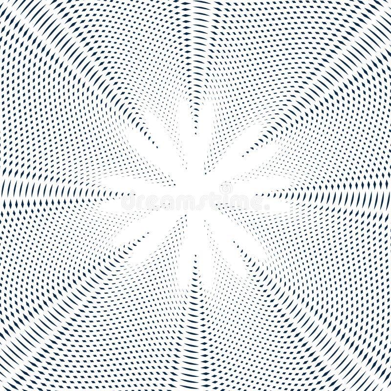 Fondo psicodélico rayado con las líneas blancos y negros del moaré fotografía de archivo libre de regalías