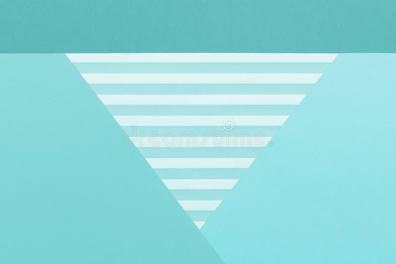 Fondo puesto plano del color en colores pastel geom?trico de los azules cielos del extracto Minimalismo, geometr?a y plantilla de imagen de archivo libre de regalías