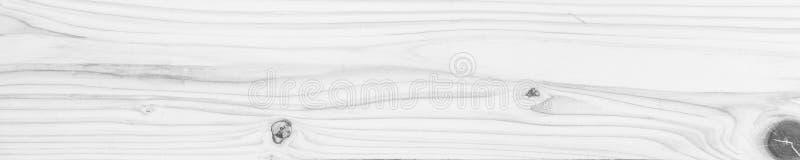 Fondo pulito bianco del abstact della superficie di legno di struttura di panorama, fotografia stock