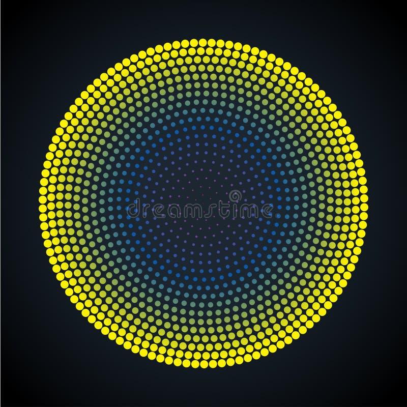 Fondo punteado círculo abstracto Ilustración del vector ilustración del vector