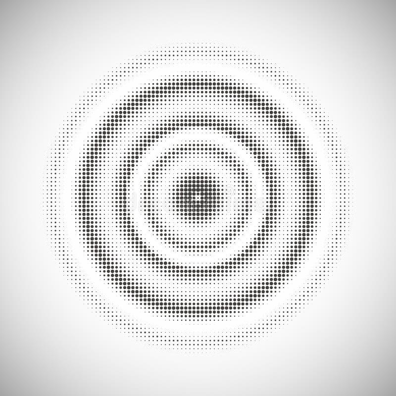 Fondo punteado del círculo concéntrico libre illustration